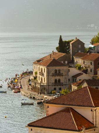 City View of Perast, Bay of Kotor, UNESCO World Heritage Site, Montenegro, Europe
