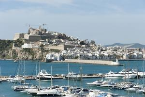 Cranes at Ibiza Castle and View of the Boats, Ibiza Port, Dalt Vila by Emanuele Ciccomartino