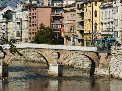 Latinska Cuprija (Latin Bridge) over Miljacka River, Place of Murder of Archduke Ferdinand, Sarajev