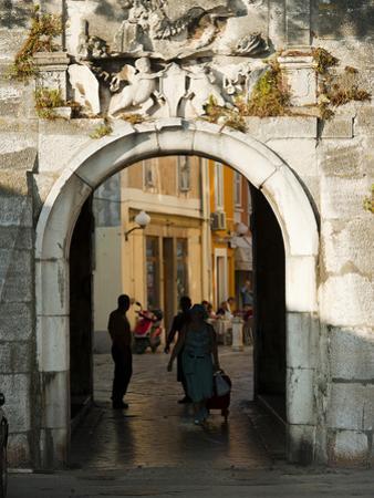 Old Town Gate, Zadar, Zadar County, Dalmatia Region, Croatia, Europe
