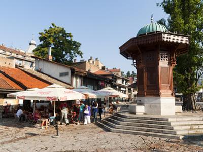 Sebilj Fountain in Pigeon Square, Sarajevo, Bosnia and Herzegovina, Europe