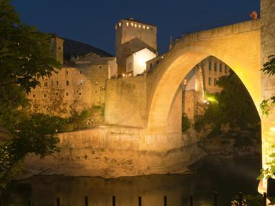 Stari Most (Old Bridge), UNESCO World Heritage Site, Mostar, Municipality of Mostar, Bosnia and Her by Emanuele Ciccomartino