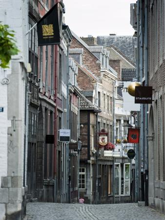 Stokstraat (Stok Street), Maastricht, Limburg, the Netherlands, Europe by Emanuele Ciccomartino