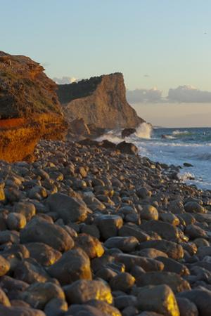Sunset, Es Codolar Boulder Beach, Ibiza, Balearic Islands, Spain, Mediterranean, Europe by Emanuele Ciccomartino