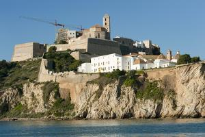 View of Ibiza Old Town and Dalt Vila, Ibiza, Balearic Islands, Spain, Mediterranean, Europe by Emanuele Ciccomartino