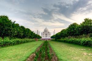 Taj Mahal Viewed from Methab Bagh by Emanuele Siracusa
