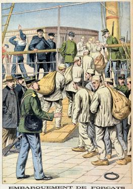 Embarkation of Convicts for Guyana, Illustration from 'Le Petit Journal', 3rd January 1904