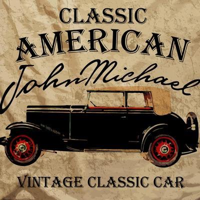Old American Car Vintage Classic Retro Man T Shirt Graphic Design