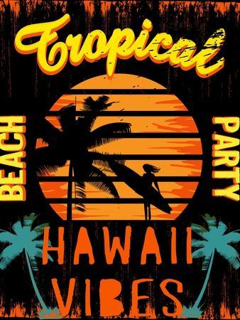 Sunset at Tropical Beach Hawaii