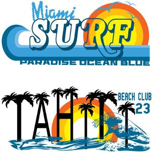 Tropical Set Miami and Tahiti by emeget