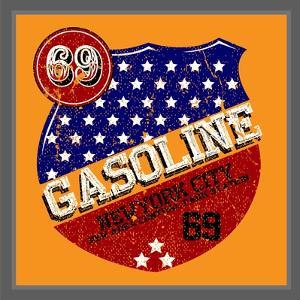 Vintage Gasoline & Motor Oil   T-Shirt Printing by emeget