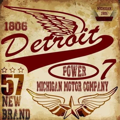 Vintage Man T Shirt Graphic Design about Detroit by emeget