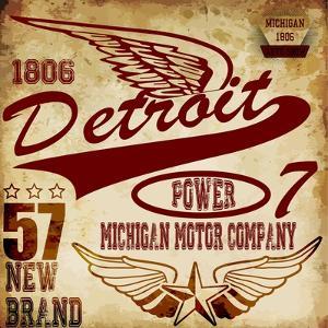 Vintage Man T Shirt Graphic Design about Detroit by emeget