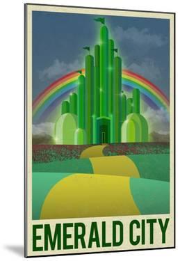 Emerald City Retro Travel Poster