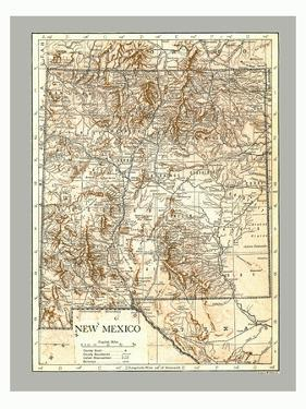 Map of New Mexico, c1900s by Emery Walker Ltd
