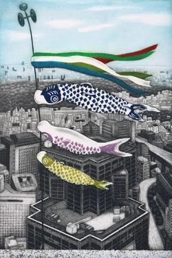 Koinobori, 2007, by Emiko Aida