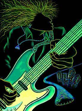 Cosmic Guitar Player by Emiko Aumann