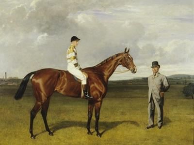 'Mimi' with Rickaby Up with Her Trainer, Mr Matthew Dawson, 1891