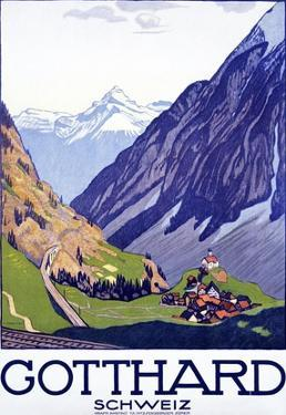 Gotthard, Schweiz by Emil Cardinaux