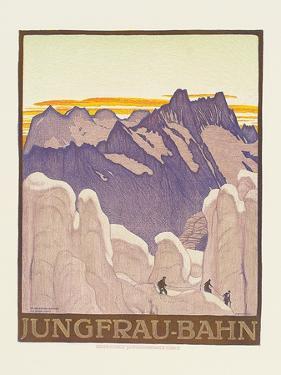 Jungfrau-Bahn, Poster Advertising the Jungfrau Mountain Railway by Emil Cardinaux