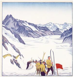 Switzerland, VII Summer Glacier Ski by Emil Cardinaux