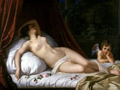 Recumbant Venus with Cupid, 1839