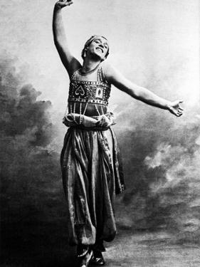 """Russian Ballet Dancer Vaslav Nijinsky Photographed in Character for Ballet """"Scheherazade"""" by Emil Otto Hoppé"""