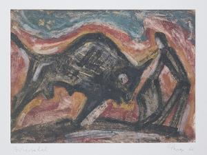 Bull Fight, 1966 by Emil Parrag
