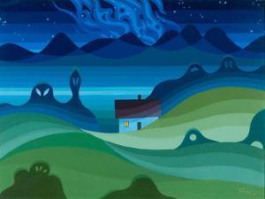 Moonlit Landscape, 1997 by Emil Parrag