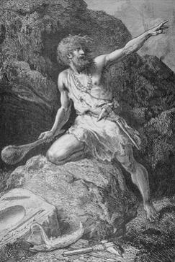 Illustration of Neolithic Man by Emile Antoine Bayard