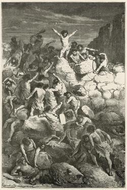 Les Premiers Combats Reguliers Entre Les Hommes a L'Age De La Pierre by Emile Antoine Bayard