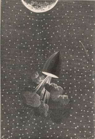 Autour De La Lune, One Hour from the Moon! by Emile Bayard
