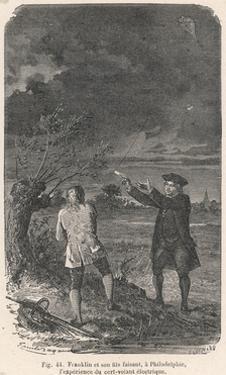 Benjamin Franklin and His Kite by Emile Bayard