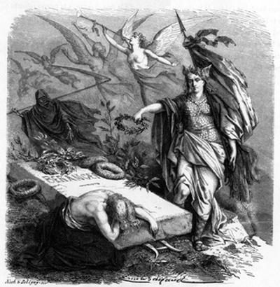 Beranger (His Tomb) by Emile Bayard
