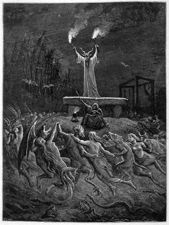 Horned Devil Presides Over the Sabbat