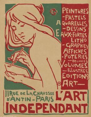 Poster for L'Art Independant Art Store Paris by Emile Berchmans