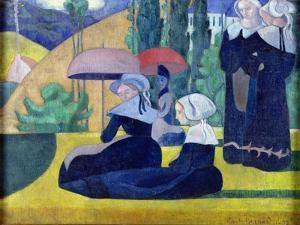 Breton Women in the Shade, 1892 by Emile Bernard
