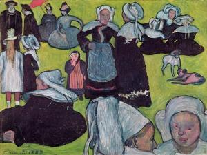 Bretons in a Field Or, the Pardon, 1888 by Emile Bernard