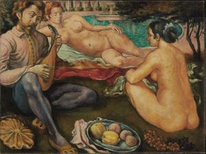 Court of Love, 1890 by Emile Bernard