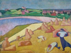Harvest Time by the Sea, 1891 by Emile Bernard