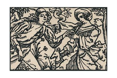 'Illustration for Villon's Petit Testament, 1919