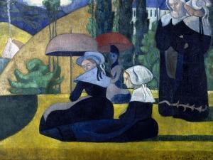 Les Bretonnes aux ombrelles by Emile Bernard