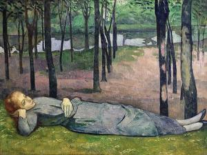 Madeleine in the Bois D'Amour, 1888 by Emile Bernard