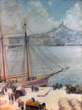 Marseille Quay, 1929 by Emile Bernard