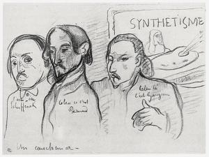 Portraits of Gauguin, Bernard and Schuffenecker by Emile Bernard