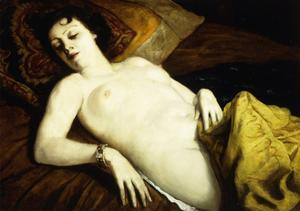 Sleeping Nude with Bracelet; Nu Couche Au Bracelet, 1930 by Emile Bernard
