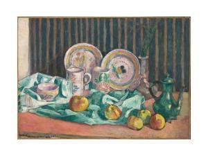 Still Life with Apples and Fruit Dishes, C.1906 by Emile Bernard