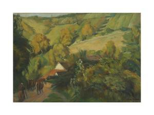 The Descent to Molosmes, 1907 by Emile Bernard