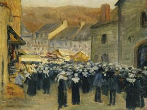 The Market at Pont-Aven; Le Marche a Pont-Aven, 1886 by Emile Bernard