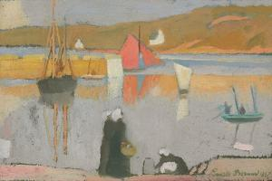 The Port at Saint-Briac, 1887 by Emile Bernard